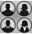 User icons set vector image