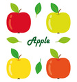 Apples isolated objects vector image
