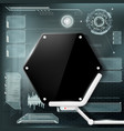 hud interface background vector image