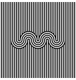 abstract black and white stripe line background vector image vector image