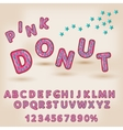 alphabet in style comics donut funny letters vector image