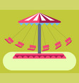 amusement park attractions swing ride carousel vector image vector image