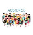 audience groop of people avatars on white vector image vector image