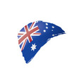 australia flag on a white vector image vector image