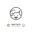 baby teeth icon little boys with first tooth vector image