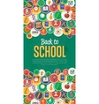 Back to school banner with flat icons vector image vector image