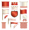 banners and shields vector image vector image