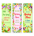 banners set for spring time greetings vector image