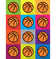 Basketball Colorful Pattern vector image