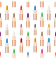 beauty woman care lipstick color seamless pattern vector image