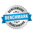 benchmark round isolated silver badge vector image vector image