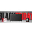 black friday electronics sale banner template with vector image