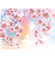 blooming branches against the sky vector image vector image