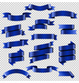 blue web ribbons set vector image vector image