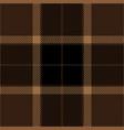 brown black tartan plaid seamless pattern vector image vector image
