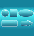 cartoon water buttons for gui vector image
