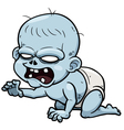 Cartoon zombie baby vector image vector image