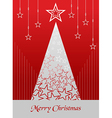 Christmas postage card background vector image vector image
