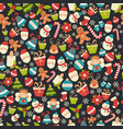 christmas seamless pattern christmas seamless vector image