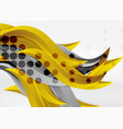 colorful wave lines in white and grey 3d vector image vector image