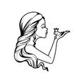 coloring book princess and frog vector image vector image