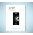 Cover report phone application vector image vector image