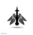 cruise missile icon filled flat sign vector image