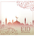 eid festival greeting card besutiful background vector image vector image