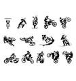 extreme motorbike big set 14x motocross vector image vector image