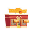 fast food mexican restaurant building cartoon vector image