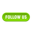 follow us button us rounded green sign vector image vector image