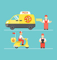 food delivery service concept pizza vector image vector image