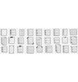 fulfilled controlling checklists doodle set vector image vector image