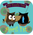 funy owl for april 1 vector image