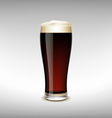 Glass of dark beer vector image vector image