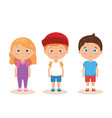 group of little kids characters vector image