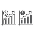 growth rate line and glyph icon finance banking vector image vector image