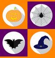 helloween icons set for vector image