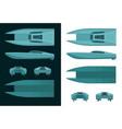 high speed catamaran color drawings vector image vector image