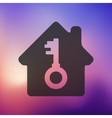 house icon on blurred background vector image vector image
