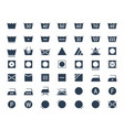icon set laundry and textile care symbols vector image
