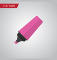 isolated highlighter flat icon marker vector image