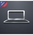 Laptop icon symbol 3D style Trendy modern design vector image vector image