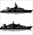 Large yachts with helicopters vector image vector image