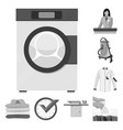 laundry and clean symbol vector image vector image