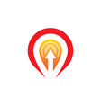 location arrow business logo vector image vector image
