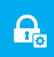 lock icon with settings sign vector image