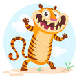 lovely cartoon tiger character vector image