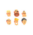 man avatars set face social view concept vector image vector image