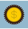 money coin gear vector image vector image